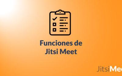 Funciones de Jitsi Meet