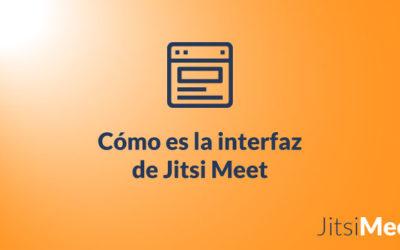 ¿Cómo es el interfaz de Jitsi Meet?