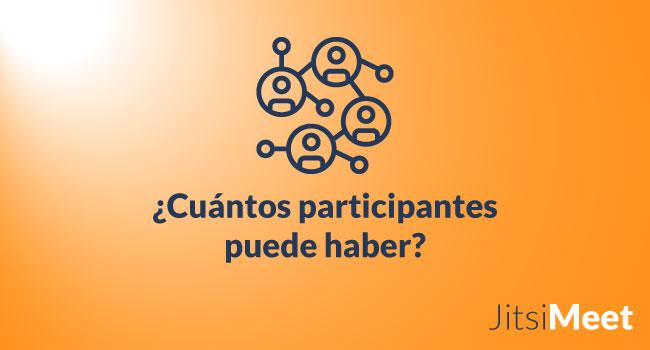 ¿Cuántos participantes puede haber en una reunión Jitsi Meet?